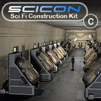 Scicon SciFi Constructor Set C Themed Props/Scenes/Architecture Simon-3D