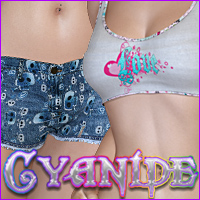 Cyanide for The Prime Denim Clothing Silver