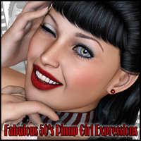 Fabulous 50's Pinup Girl Expressions 3D Figure Essentials Freja