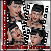 Fabulous 50's Pinup Girl Expressions image 2