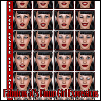 Fabulous 50's Pinup Girl Expressions image 3