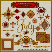 Birthstone Bling!: JULY-RUBY 2D Graphics fractalartist01