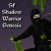 SF Shadow Warrior Genesis 3D Figure Assets SickleYield