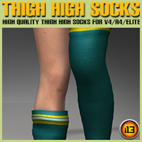 Thigh High Socks for V4/A4/Elite Clothing Footwear ironman13