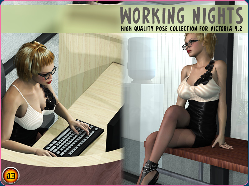 WORKING NIGHTS poses for V4
