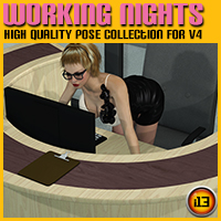 WORKING NIGHTS poses for V4 Poses/Expressions ironman13