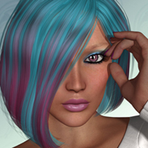 FWs Styles for Cruel Ella Hair  by RPublishing 3D Figure Essentials FWArt