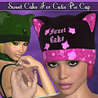 Sweet Cake for Cutie Pie Cap 3D Figure Essentials 3D Models Blazerwiccan