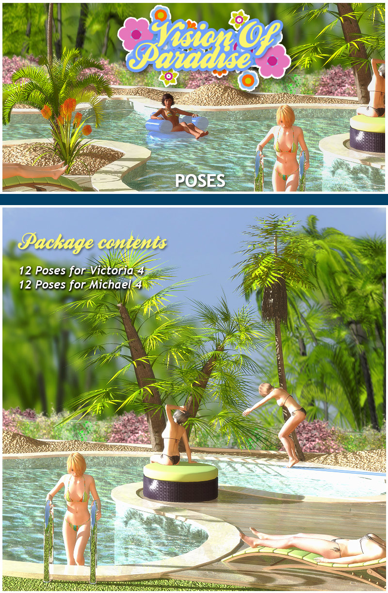 Vision Of Paradise poses