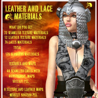 Leather N Lace materials 3D Figure Essentials WhopperNnoonWalker-