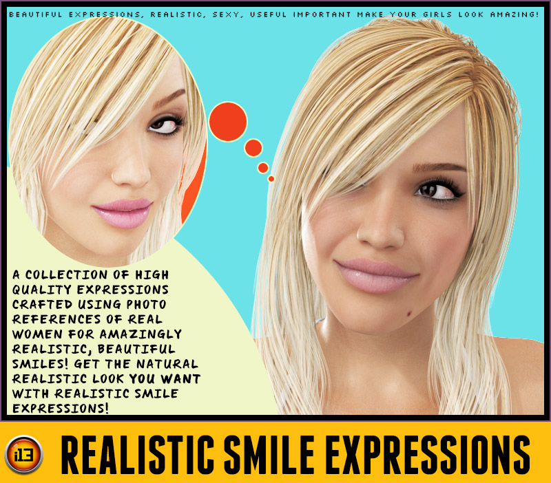 i13 Realistic Smile Expressions for V4