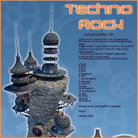 Techno Rock Themed Props/Scenes/Architecture 1971s
