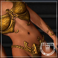 ATTENTIVE for Fantasy Amazon Outfit for V4 by Xurge 3D 3D Models 3D Figure Assets outoftouch