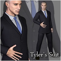 Business Suit for Tyler 3D Figure Essentials RPublishing