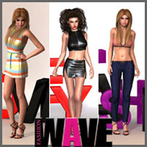 FASHIONWAVE PosesNScenes - Casual 3D Figure Assets 3D Models outoftouch
