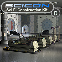 Scicon SciFi Constructor Set D Props/Scenes/Architecture Themed Simon-3D