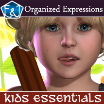 Kids Essentials 157 Organized Expressions Software Poses/Expressions EmmaAndJordi