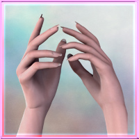 Perfectly Pretty Hands for Genesis 3D Figure Assets vyktohria