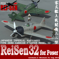 ReiSen32 for Poser 3D Models motokamishii