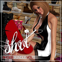 SHOOT Shoes Bundle Vol. 1 3D Figure Assets ShanasSoulmate