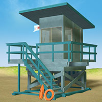 Lifeguard Station 3D Models 3D Figure Essentials Richabri