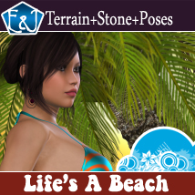 Life's A Beach Themed Props/Scenes/Architecture Software Poses/Expressions EmmaAndJordi