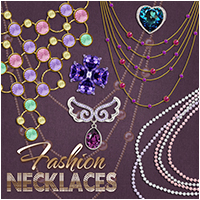 Fashion Necklaces 2D Graphics Atenais