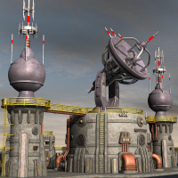 Tartaros Base Comm Towers Themed Props/Scenes/Architecture Nightshift3D