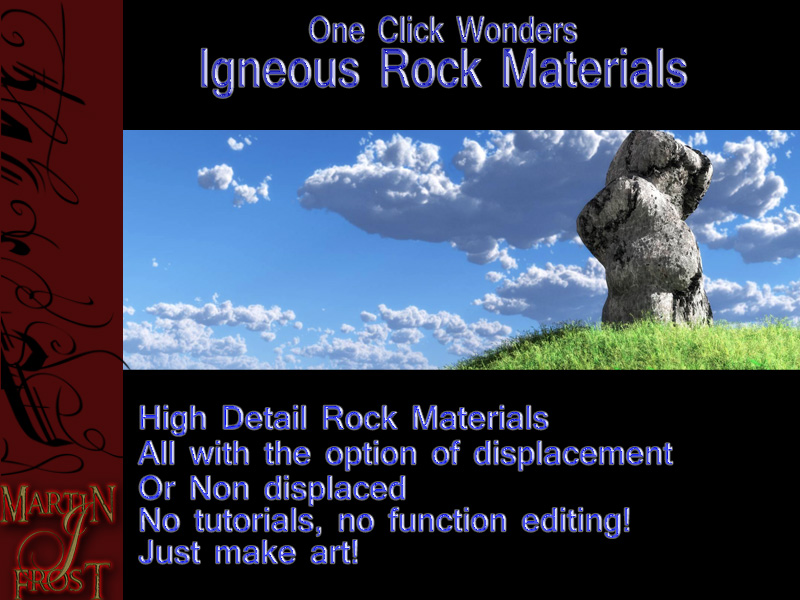 Igneous Rocks - 1 click wonders vol 4
