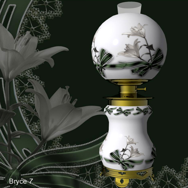 Victorian Style Parlor Lamp: Bryce 7 (obp)