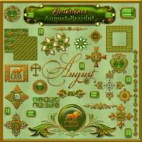 Birthstone Bling!: AUGUST-PERIDOT 2D And/Or Merchant Resources Themed fractalartist01
