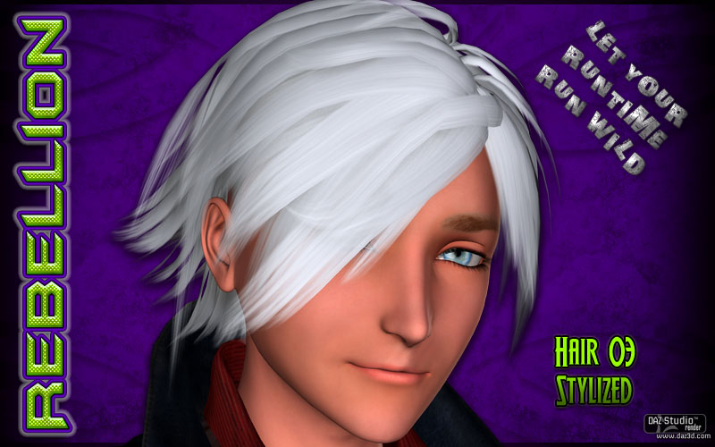 REBELLION: Hair 03 Stylized