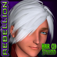 REBELLION: Hair 03 Stylized Hair Silverwind-Designs