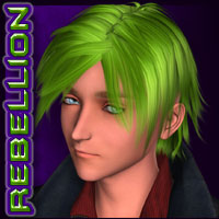 REBELLION: Hair 03 Stylized image 2