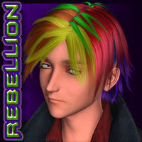 REBELLION: Hair 03 Stylized image 6