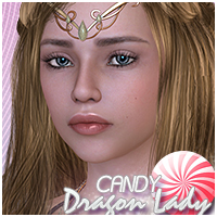 Candy Dragon Lady 3D Figure Essentials Sveva