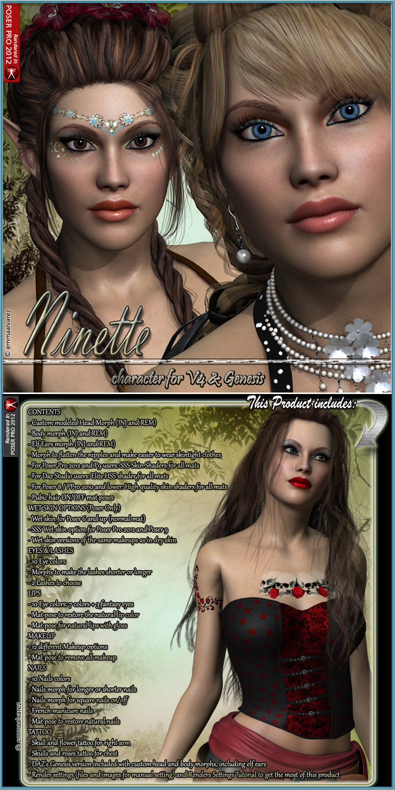 EA Ninette For V4 And Genesis by EmmaAndJordi