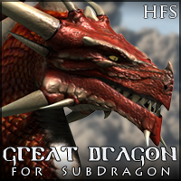 HFS Great Dragon for SubDragon 3D Models 3D Figure Assets DarioFish