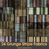 24 Grunge Stripe Fabric textures @ 300 DPI 2D And/Or Merchant Resources Themed shoxgurl
