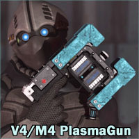 PlasmaGun for V4 and M4 3D Models 3D Figure Assets Legacy Discounted Content 3-d-c
