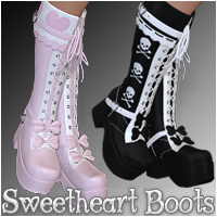 Sweetheart Boots 3D Figure Essentials Silver