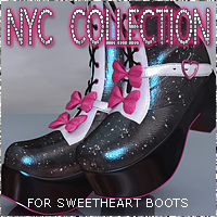 NYC for Sweetheart Boots 3D Figure Essentials 3DSublimeProductions