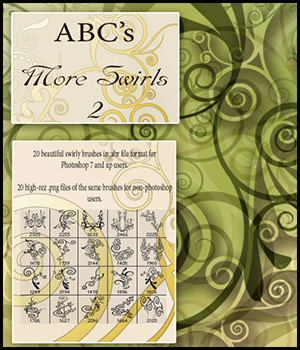ABC More Swirls2 2D Bez