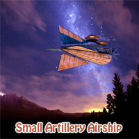 Small Artillery Airship 3D Models 1971s