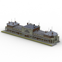 Bonn Station (for Lightwave) Props/Scenes/Architecture Themed Digimation_ModelBank
