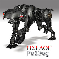 PsiDog Robot Dog Stand Alone Figures Props/Scenes/Architecture Themed Simon-3D