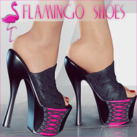 Flamingo Shoes 3D Figure Assets lilflame