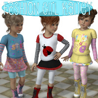 Fashion Girl Kaitey 3D Figure Essentials JudibugDesigns