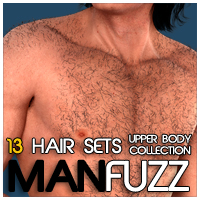 ManFuzz - UpperBody Hair  for Genesis 3D Figure Essentials Zev0