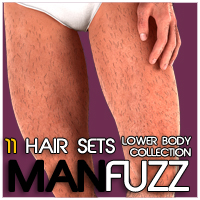 ManFuzz - LowerBody Hair  for Genesis 3D Figure Essentials Zev0